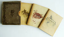 1880 FAITH HOPE AND CHARITY 3 books in slipcase illust Scripture Castell Bros VG