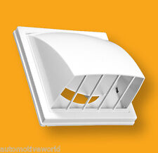 White Cowled Gravity Flap 160mm Ducting Air Vent Back Draught Shutter PKWO-160