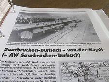 Neben - Schmalspurbahnen 12  Saar Saarbrücken Burbach Von der Heydt 8 S