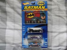Hot Wheels Batman 3 Pack Guide Exclusive Cars Batmobile, Bane and The Joker