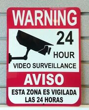 Metal Warning Security Cameras In Use - Business Home Video Surveillance Signs