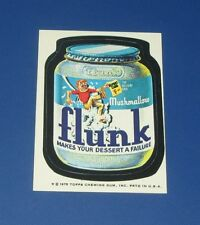 75 WACKY PACKAGES SERIES 14 TAN BACK MUSHMALLOW FLUNK   NM