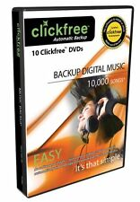 Clickfree 10 Backup DVD's Backup up to 10,000 Songs Automatically