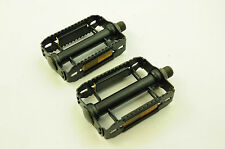 "WAGNER 9/16""BLACK STEEL RAT-TRAP PEDALS, GERMAN MADE NOS FOR 70's 80's RACERS"