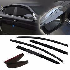 Smoke Window Vent Visor + Side Mirror Rain Guard 6P For KIA 2011-2015 Optima K5