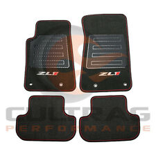 2012-2015 Camaro Genuine GM Front & Rear Carpet Floor Mats ZL1 Logo 22808455