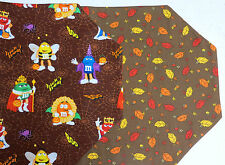 New M&M Halloween Table Runner Trick or Treat Costumes Autumn Leaves Reversible