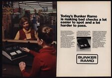 1979 BUNKER RAMO Computer Check & Credit Card Machine VINTAGE ADVERTISEMENT