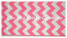 "3"" HOT PINK WHITE GLITTER CHEVRON GROSGRAIN RIBBON 4 CHEER TIC TOC HAIRBOW BOW"