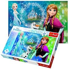 Trefl 200 Piece Girls Disney Frozen Sisters Anna Elsa Olaf Jigsaw Puzzle NEW