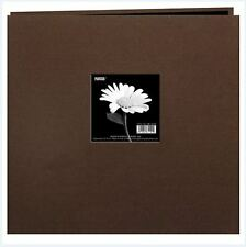 Pioneer Photo Albums ~Postbound 12x12 Earthtone Broadcloth Frame CHOCOLATE BROWN