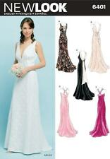 NEW LOOK  Sewing Pattern Miss Ladies Womens Plus Wedding Prom Dress~6401 Sz 8-18