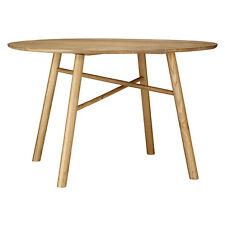 JOHN LEWIS SAYS WHO WHY WOOD 4 SEATER OAK ROUND DINING TABLE - NEW