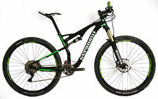"17"" M STRADALLI 29ER GREEN CARBON FIBER DUAL SUSPENSION TRAIL MTB BIKE XTR 9000"