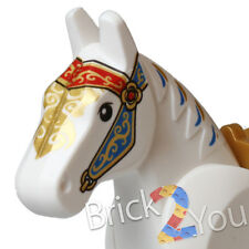 Lego White Horse w/ Pearl Gold Saddle from 10235 Winter Village Market