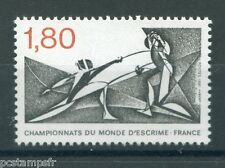 FRANCE 1981, timbre 2147, SPORT, ESCRIME, neuf**, FENCING, VF MNH STAMP