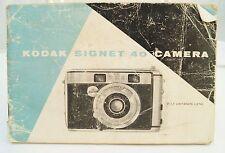 Kodak Signet 40 35mm film camera instruction manual 1956