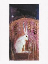 PAGAN WICCAN GREETNG CARDS Dark Bird HARE CELTIC NATURE Goddess CATHERINE HYDE