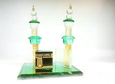 New Crystal Cut Glass Makkah kaaba Replica allah allahu mosque Islamic Gift