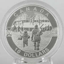 Canada 2013 $10 Hockey 1/2 oz. Pure Silver Matte Proof Coin, O Canada Series #9