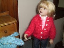 "BEAUTIFULLY MADE FOR 14"" CHRYSALIS KISH RED MOHAIR BLEND SWEATER NO DOLL"