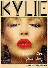 KYLIE MINOGUE 2014 TOUR FLYER - KISS ME ONCE CONCERT - GENUINE MUSIC PROMO
