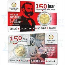 2 EURO coincard *** 2014 Belgique  ***  Rode Kruis 150 jaar/ans Croix Rouge  !!!