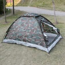 2X 2 Person Camping Tent Shelter Single Layer Waterproof Outdoor Camouflage D0O6