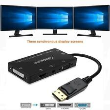 4 in 1 Monitor Multi Displayport DP to HDMI DVI VGA Display &Video Adapter Cable