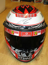 KIMI RAIKKONEN SIGNED FULL SIZE F1 RACING HELMET UNFRAMED + PHOTO PROOF & C.O.A