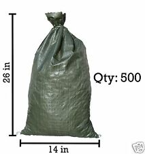Sandbaggy 500 Green Empty Sandbags For Sale 14x26 Sandbag Sand Bags Bag Poly
