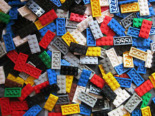 LEGO Bulk Sale - 25 x Mixed Colours 4 pin x 2 pin Flat Plate Building Bricks