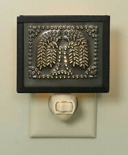 Country Primitive Metal Pie Safe Night Light Punched Willow Aged Tin