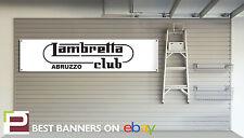 Garage atelier Lambretta bannière amateurs bannière, li125, GP125. GP200, SX200