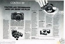 Publicité advertising 1985 (2 pages) Appareil photo Contax 159
