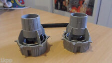 2x Vintage Star Wars 1983 Y WING Y-WING REAR THRUSTER WING PART light grey
