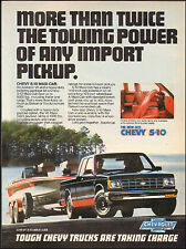 1983`Print ad for Chevy S-10 Chevrolet`black/red  boat (103115)