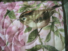 AMAZING HAND MADE PATCHWORK QUILT BEDSPREAD BIRDS IN WINDOW FLORAL ROSES