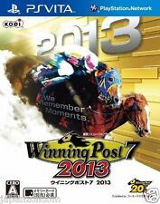 Used PS Vita Winning Post 7 2013  SONY PLAYSTATION JAPANESE IMPORT