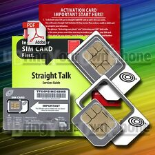 STRAIGHT TALK MICRO SIM unlocked VERIZON GSM devices on AT&T 4G LTE towers