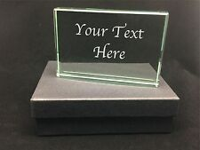 Large Personalised Engraved Glass Block - Dance Sport Trophy Award