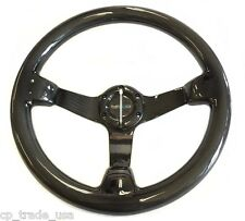 NRG DEEP DISC CARBON FIBER STEERING WHEEL 350MM ST-036CF