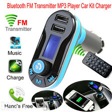 Car Kit Charger MP3 Player Wireless Bluetooth FM Transmitter Radio With USB Port