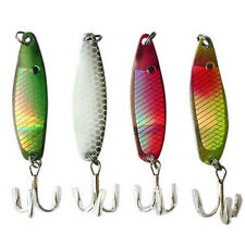 Lot 4PCS Metal Spoon Fishing Lures VIB Crank Bait Bass CrankBait Tackle Hook 5CM