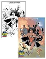 JUSTICE LEAGUE VOL.3 #1 DODSON MIDTOWN COMICS COLOUR & SKETCH VARIANTS SET DC