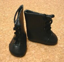 "Doll Shoes, 65mm BLACKLace up Boots for 16"" Sasha"