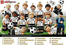 LEGO 71014 Minifigures DFB Germany German Soccer Team Complete Set of 16