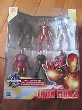MARVEL Avengers Iron Man 3 HALL OR ARMOR 6 Pack 3.75 Action FIgures NEW