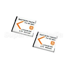 2  Battery For Sony NP-BN1 Cyber Shot DSC-WX7 WX9 W610 W620 W650 W690 TX66 TX55
