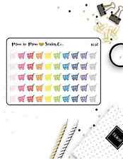 1036~~50 Shopping Grocery Cart Planner Stickers.